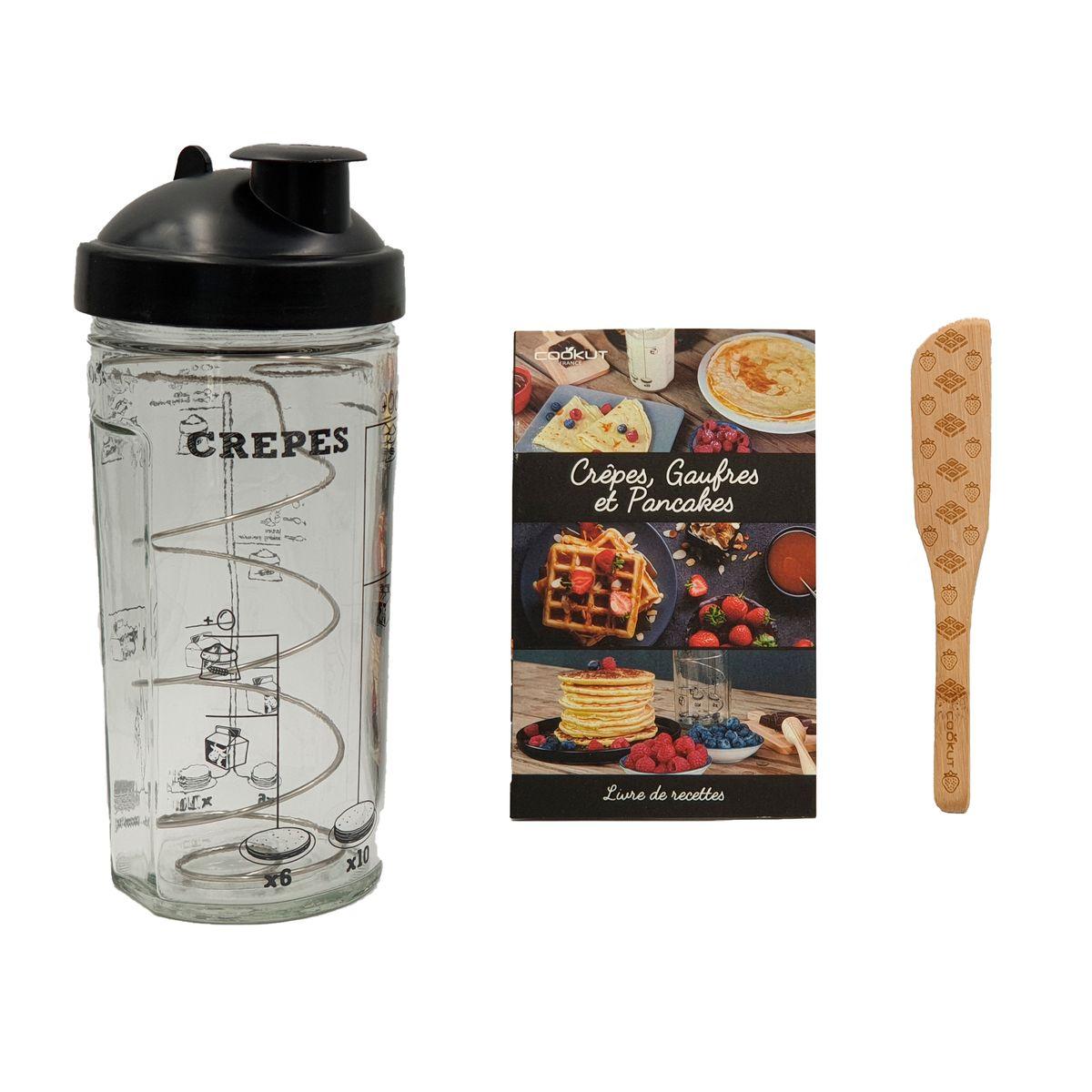 Coffret crêpes, gaufres et pancakes : shaker, tartineur et livre de recettes - Cookut