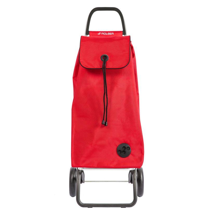 Chariot de courses pliable 2 roues rouge - Rolser