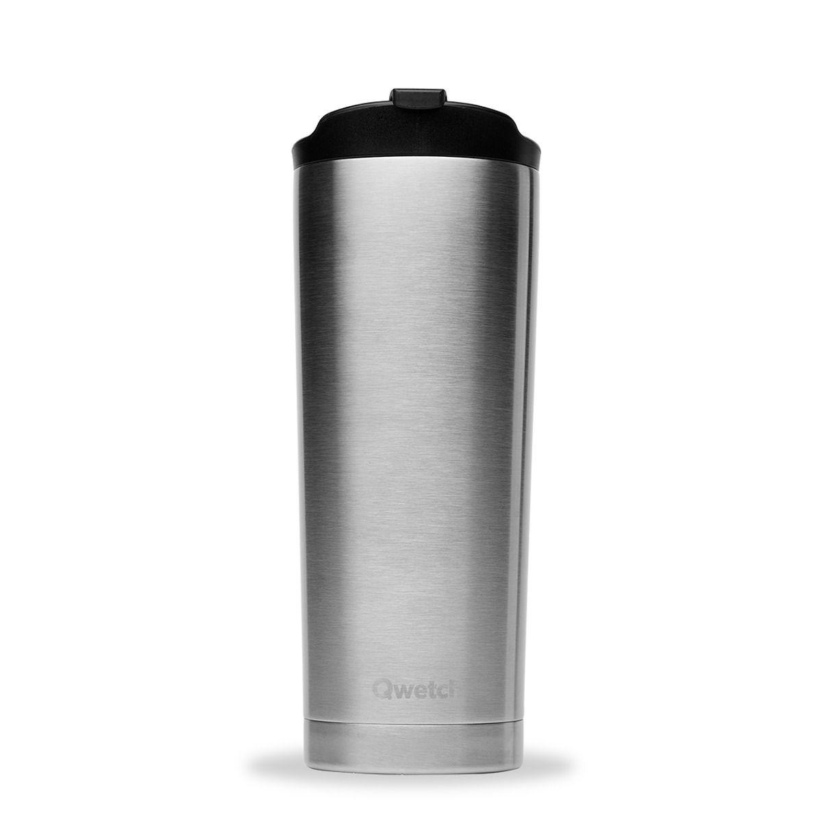 Travel mug  inox brossé 470ml - Qwetch