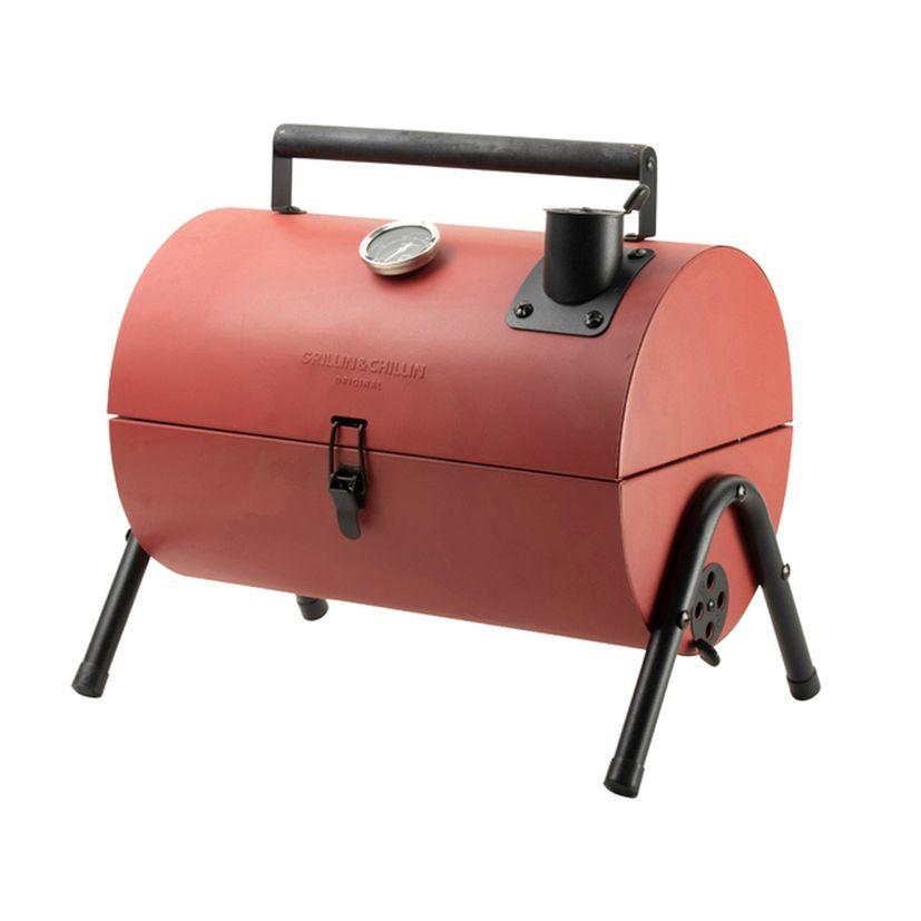 Barbecue fumoir rouge de table - Gusta