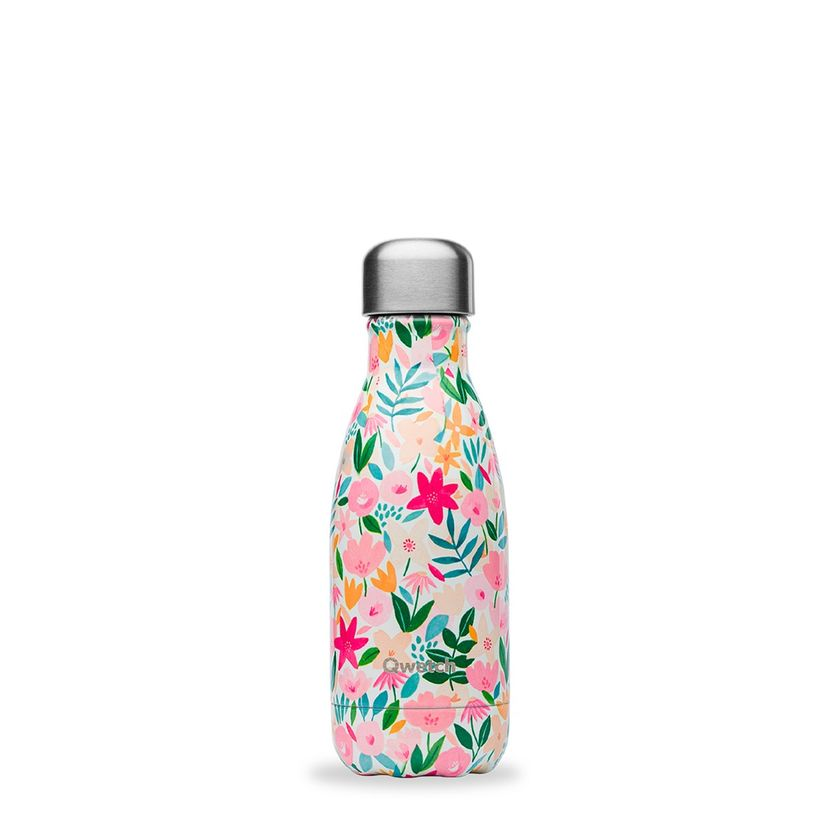 Bouteille isotherme inox 260ml Flora - Qwetch