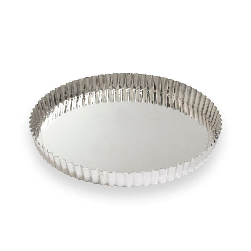 Moule à tarte fer blanc 8/10 parts 28 cm - Alice Délice