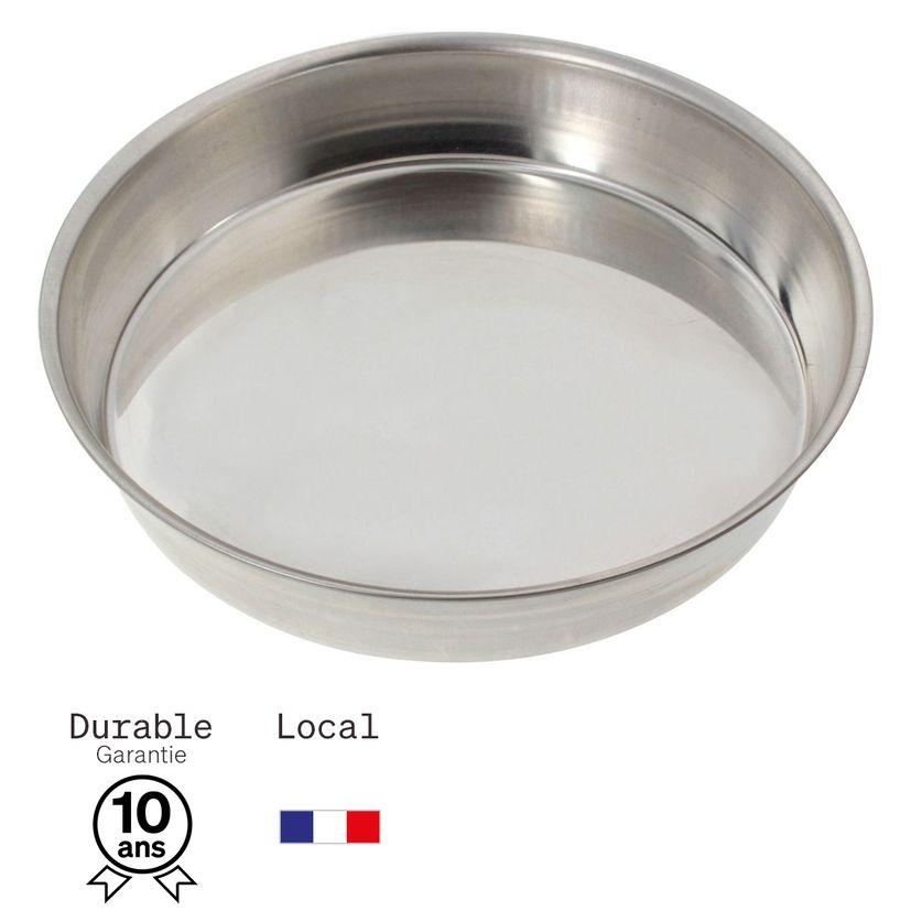 Moule à manqué rond en fer blanc 8/10 parts 26 cm - Alice Délice