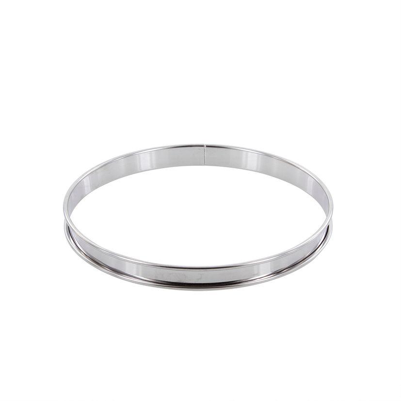 Cercle à tarte en inox 20 cm hauteur 2 cm - Alice Délice