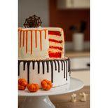 Décor en chocolat : 3 citrouilles pour gâteau d´Halloween 3.5 cm