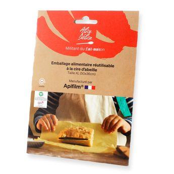 Achat en ligne Emballage alimentaire réutilisable coton et cire d´abeille taille XL - Alice Delice