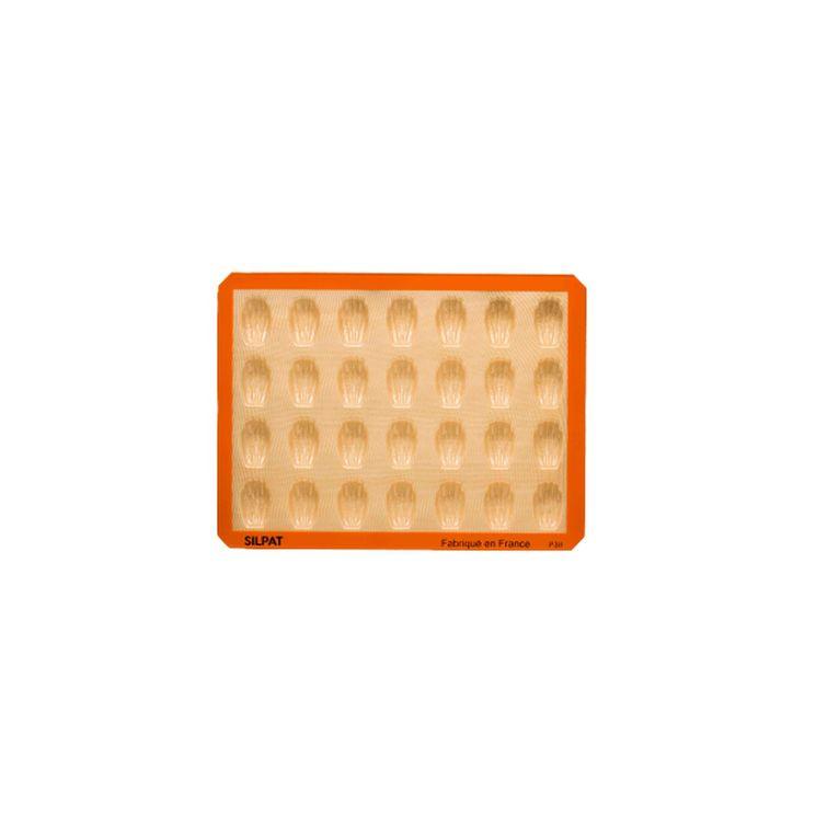Moule 28 mini madeleines en silicone et fibre de verre 40 x 30 cm - Silpat