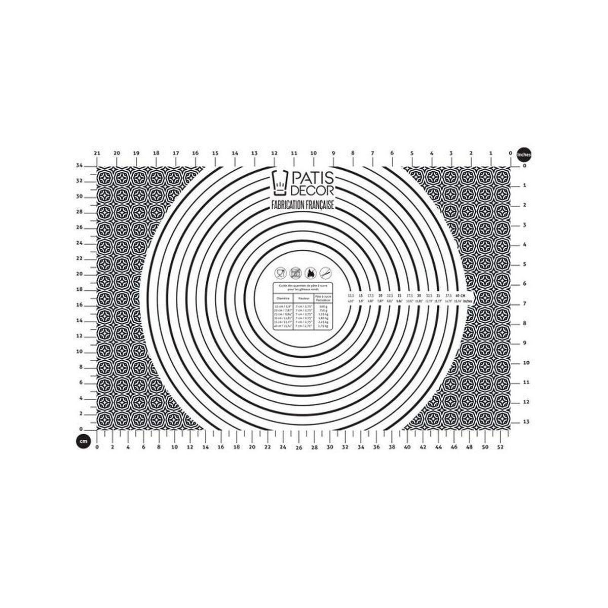 Tapis pour pâte à sucre : modèlage et recouvrement 40 x 60 cm - Patisdecor