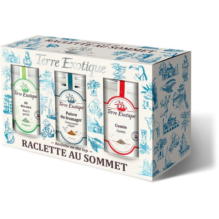 """Coffret épices """"Raclette au sommet """"- Terre Exotique"""