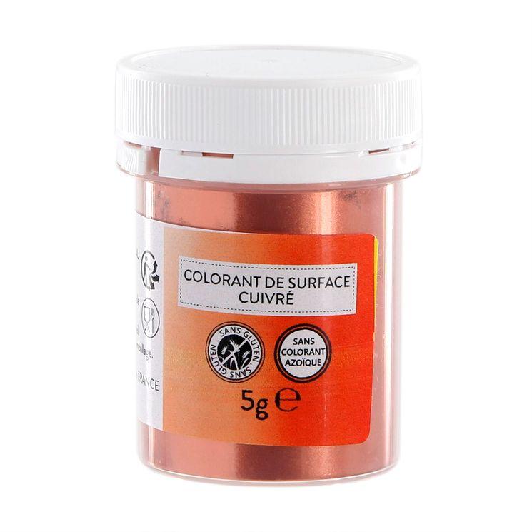 Colorant alimentaire de surface cuivré en poudre 5g