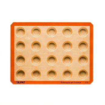 Achat en ligne Moule 20 mini muffins en silicone et fibre de verre 40 x 30 cm - Silpat