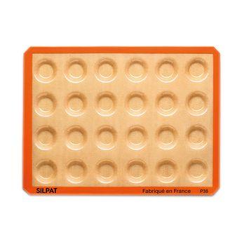 Achat en ligne Moule 24 mini tartelettes en silicone et fibre de verre 40 x 30 cm - Silpat