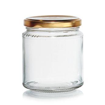 Achat en ligne Bocal à confiture en verre avec couvercle doré 300 ml - Cerve