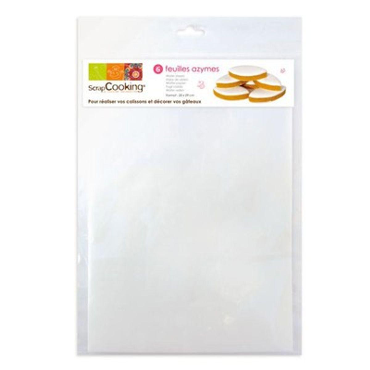 6 feuilles en papier azyme A4 - Scrapcooking
