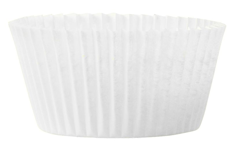 45 MOULES CUPCAKES BLANC 7.5X3.5 CM - CHEVALIER DIFFUSION
