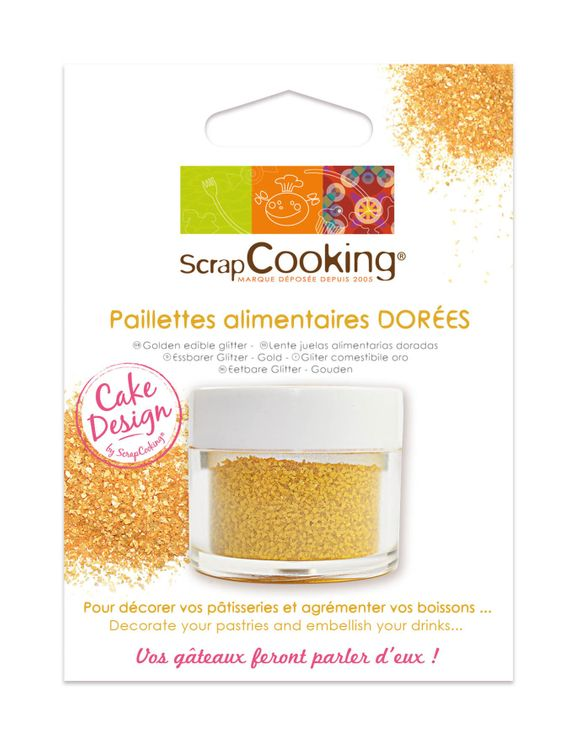 PAILLETTES ALIMENTAIRE DOREE - SCRAPCOOKING