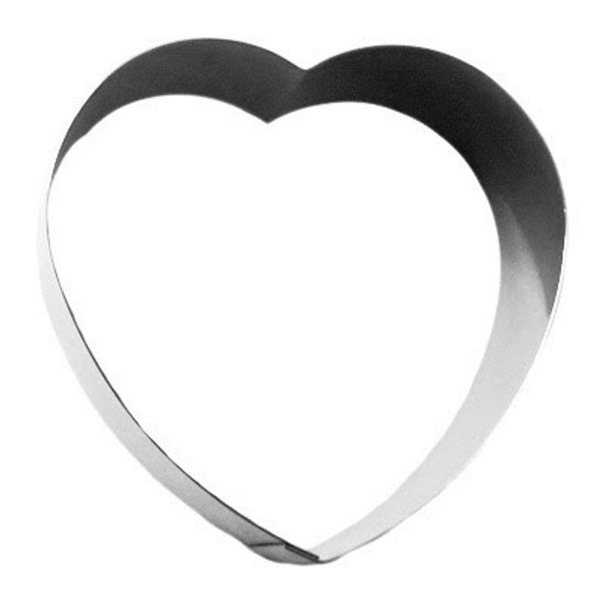 Coeur en inox 8.5 cm - Gobel