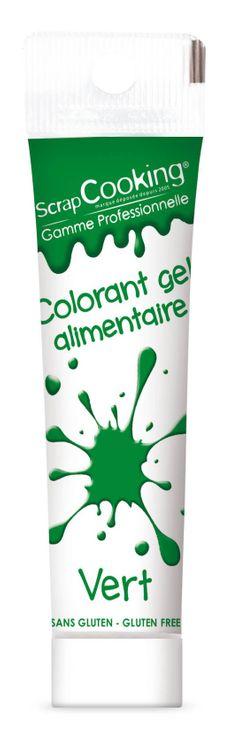 Colorant alimentaire gel vert foncé 20 gr - Scrapcooking