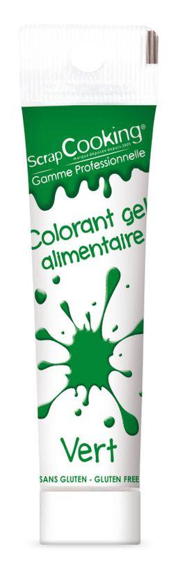 Colorant gel alimentaire vert foncé 20 gr - Scrapcooking