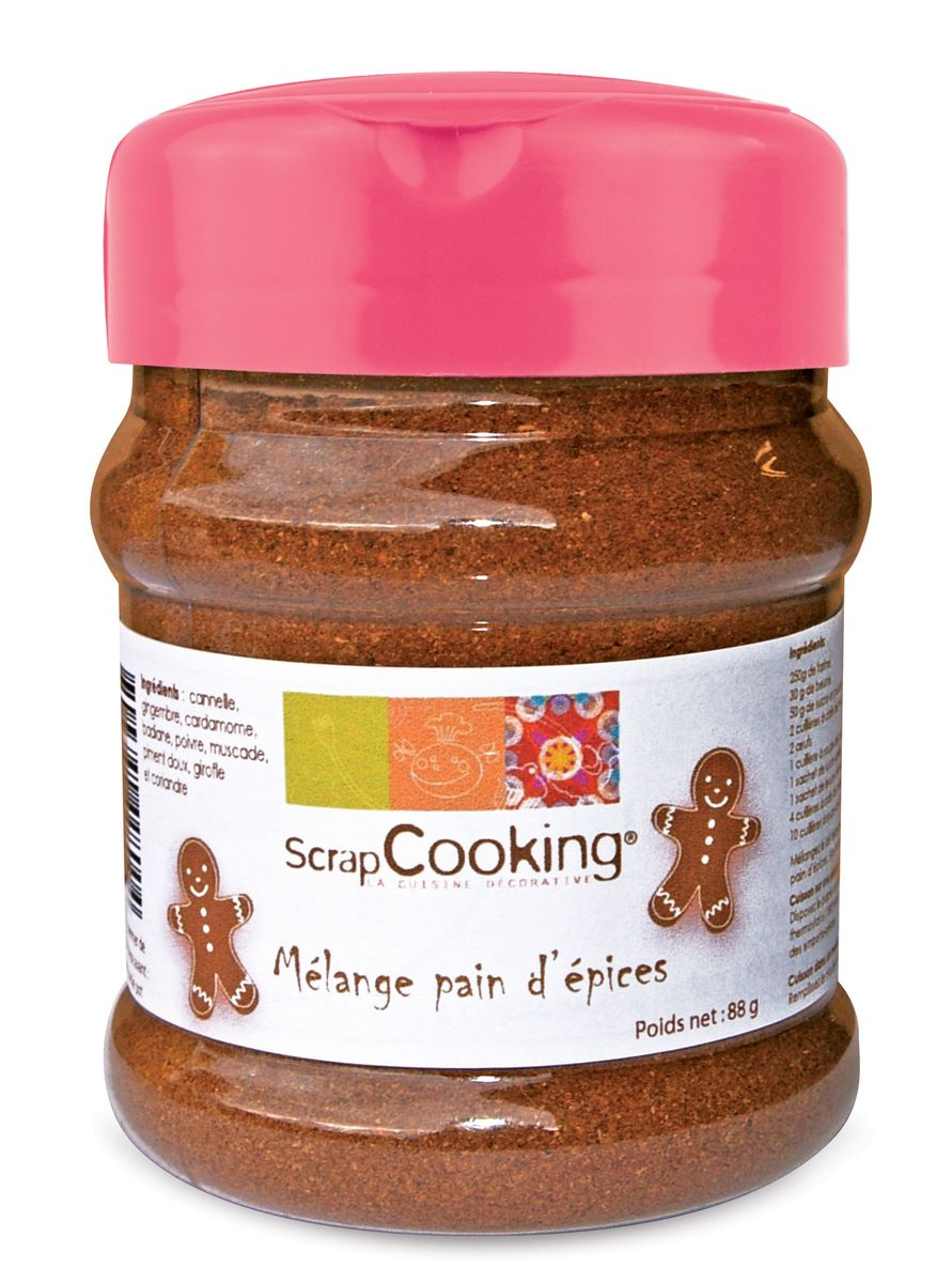 Grand pot mélange pain épices 70g - Scrapcooking